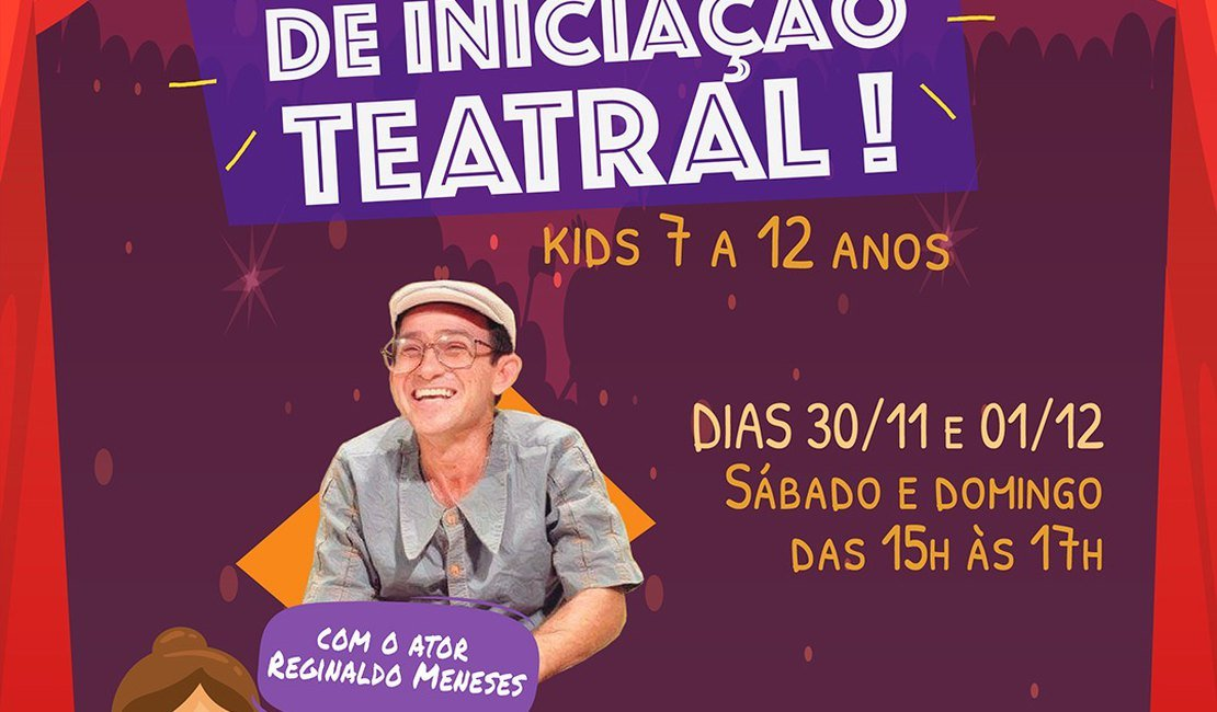 Curso de iniciação teatral kids anima férias no Parque Shopping Maceió